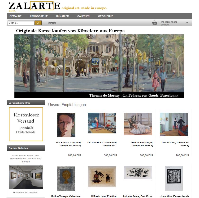 Zalarte Shop Startseite